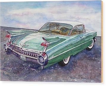 1959 Cadillac Cruising Wood Print