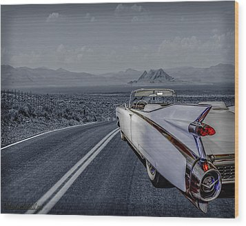 1959 Cadillac Eldorado Cool Night Wood Print