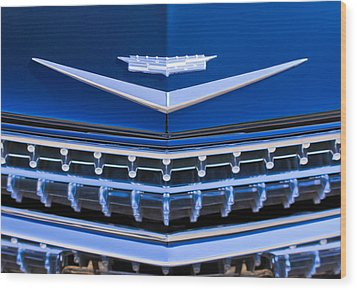 1959 Cadillac Eldorado Hood Ornament Wood Print by Jill Reger