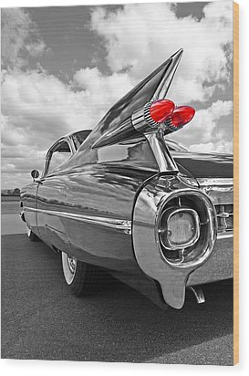 1959 Cadillac Tail Fins Wood Print
