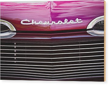 1959 Chevy Biscayne Wood Print by David Patterson