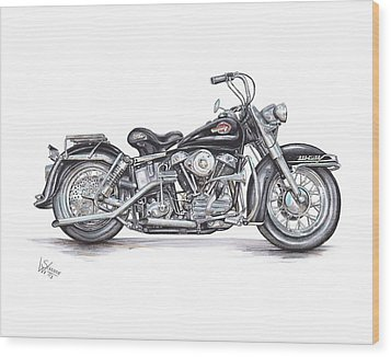 1959 Harley Davidson Panhead Wood Print by Shannon Watts