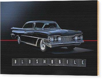 1959 Oldsmobile Custom I Wood Print by Dave Koontz