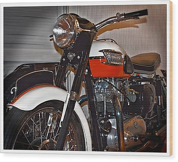 1959 Triumph Motorcycle Wood Print by Steve Benefiel