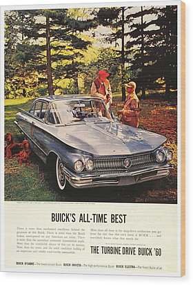 1960 - Buick Lesabre Sedan Advertisement - Color Wood Print