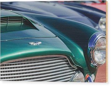 1960 Aston Martin Db4 Series II Grille - Hood Emblem Wood Print by Jill Reger
