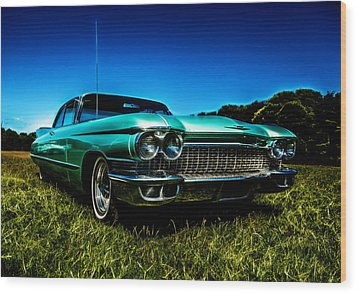 1960 Cadillac Coupe De Ville Wood Print by motography aka Phil Clark