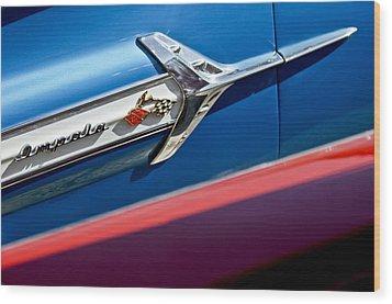 1960 Chevrolet Impala Emblem 7 Wood Print by Jill Reger