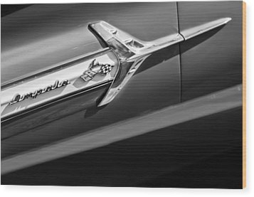 1960 Chevrolet Impala Side Emblem Wood Print by Jill Reger