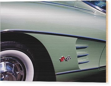 1960 Chevy Corvette Wood Print by David Patterson
