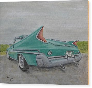 1960 Classic Saratoga Chrysler Wood Print by Kelly Mills