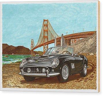 1960 Ferrari 250 California G T Wood Print by Jack Pumphrey