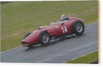 1960 Ferrari Dino Racing Car Wood Print by John Colley
