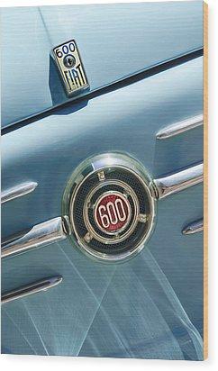 1960 Fiat 600 Jolly Emblem Wood Print by Jill Reger