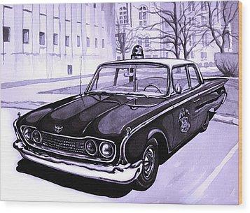 1960 Ford Fairlane Police Car Wood Print by Neil Garrison