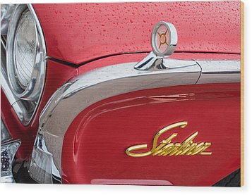 1960 Ford Galaxie Starliner Hood Ornament - Emblem Wood Print by Jill Reger