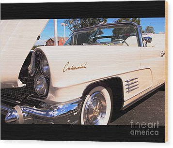 1960 Lincoln Continental Convertible Wood Print
