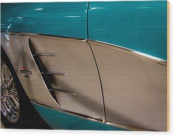 1961 Chevrolet Corvette Wood Print by David Patterson