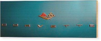 1961 Chevrolet Corvette II Wood Print by David Patterson