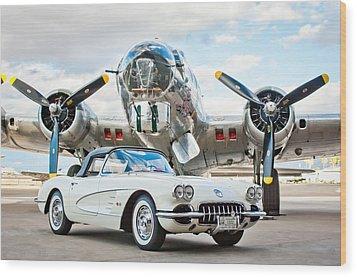 1961 Chevrolet Corvette Wood Print by Jill Reger