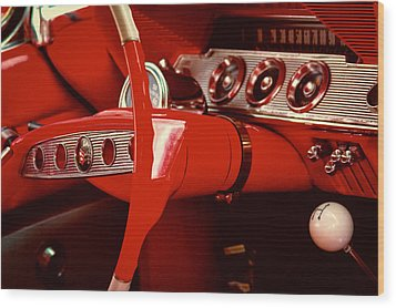 1961 Chevy Impala Ss Nomad Wood Print by David Patterson