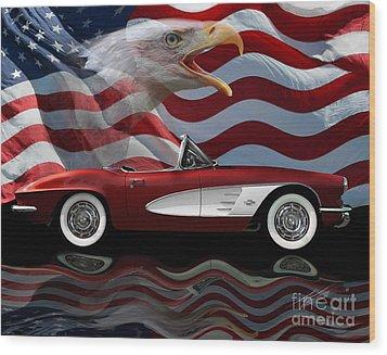 1961 Corvette Tribute Wood Print