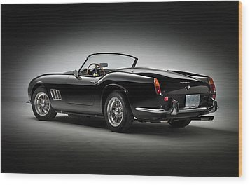 Wood Print featuring the photograph 1961 Ferrari 250 Gt California Spyder by Gianfranco Weiss