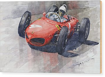 1961 Germany Gp Ferrari 156 Phil Hill Wood Print by Yuriy Shevchuk
