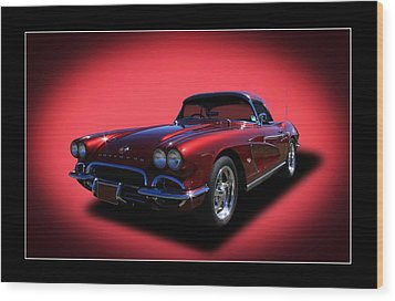 Wood Print featuring the photograph 1962 Corvette by Keith Hawley