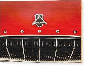 1962 Dodge Polara 500 Emblem Wood Print by Jill Reger
