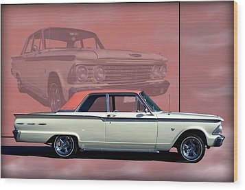 1962 Ford Fairlane 2 Door Sports Coupe Wood Print by Tim McCullough