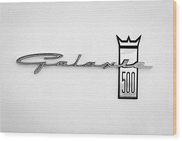 1963 Ford Galaxie 500 R-code Factory Lightweight Emblem Wood Print by Jill Reger