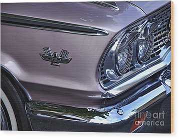 1963 Ford Galaxie Front End And Badge Wood Print by Kaye Menner