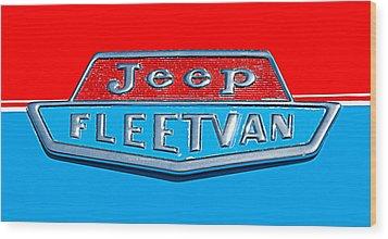 1963 Jeep Fleetwood Emblem Wood Print by Jill Reger