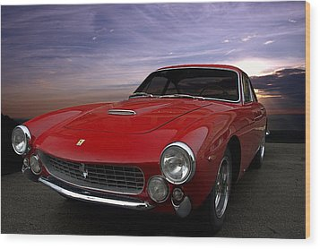 1964 Ferrari 250 Gt Lusso Berlinetta Wood Print by Tim McCullough