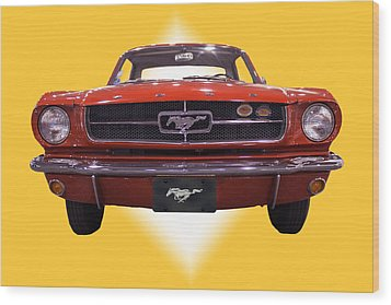1964 Ford Mustang Wood Print by Michael Porchik