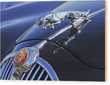 1964 Jaguar Mk2 Saloon Wood Print by Jill Reger