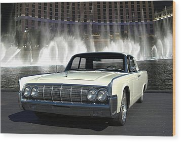 1964 Lincoln Continental Wood Print by Tim McCullough