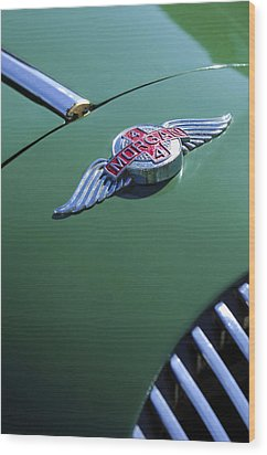 1964 Morgan 44 Hood Ornament Wood Print by Jill Reger