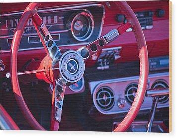 1964 Mustang Interior Wood Print