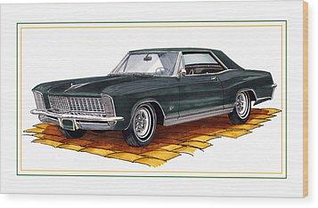 Buick Riviera Custom Wood Print by Jack Pumphrey