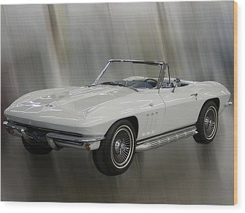 Wood Print featuring the photograph 1965 Chevy Corvette by B Wayne Mullins