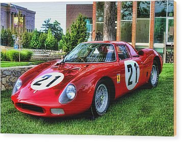Wood Print featuring the photograph 1965 Ferrari V12 250 Lm by Tim McCullough