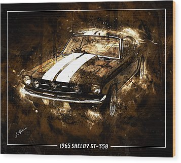 1965 Ford Shelby Mustang Gto-350 #5 Wood Print by Gary Bodnar