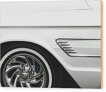 1965 Ford Thunderbird Wood Print by Carol Leigh