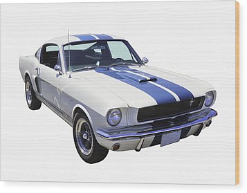 1965 Gt350 Mustang Muscle Car Wood Print