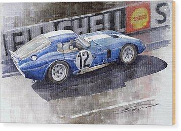 1965 Le Mans  Daytona Cobra Coupe  Wood Print by Yuriy Shevchuk