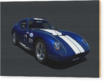 1965 Shelby Daytona Coupe Replica Wood Print by Tim McCullough