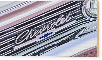 1966 Chevrolet Biscayne Front Grille Wood Print by Jill Reger