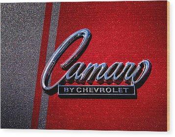 1966 Chevy Camaro Wood Print by David Patterson
